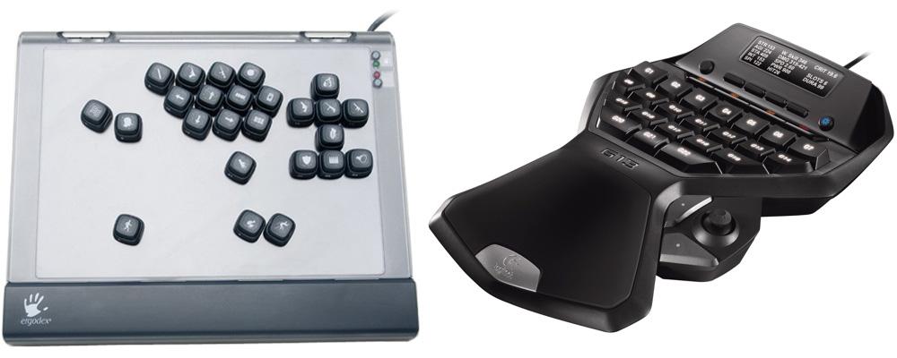 Ergodex DX1 und Logitech G13