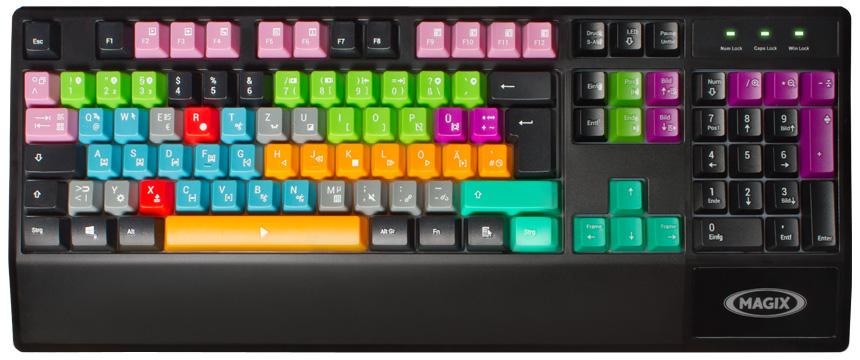 Magix Videoschnitt Tastatur